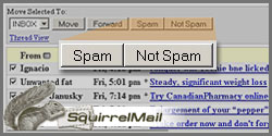 squirrelmail spam buttons